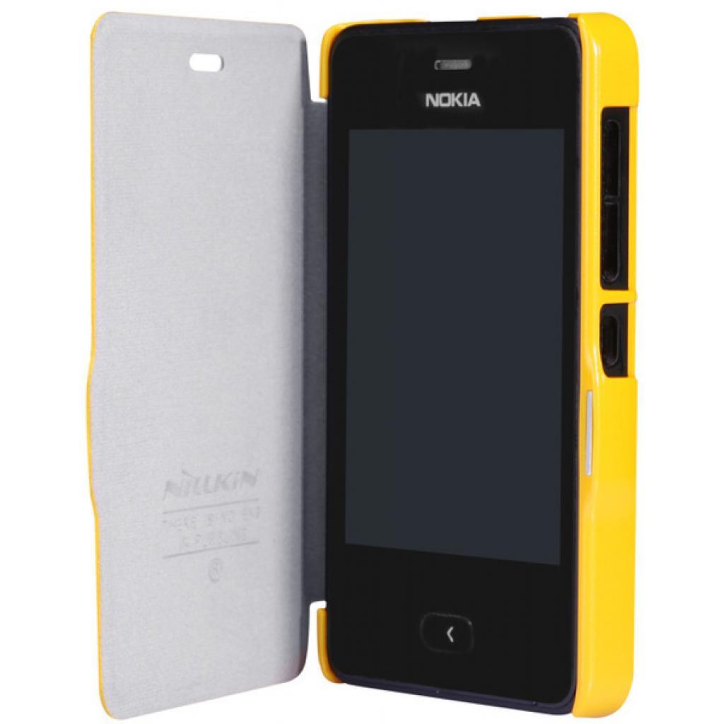 Чехол для моб. телефона NILLKIN для Nokia 501/Fresh/ Leather/Yellow (6076877) изображение 2