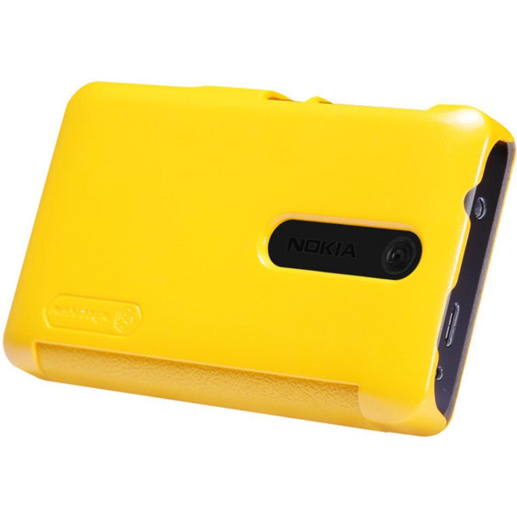 Чехол для моб. телефона NILLKIN для Nokia 501/Fresh/ Leather/Yellow (6076877) изображение 3