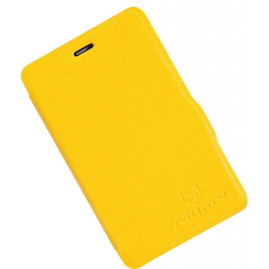 Чехол для моб. телефона NILLKIN для Nokia 501/Fresh/ Leather/Yellow (6076877) изображение 4