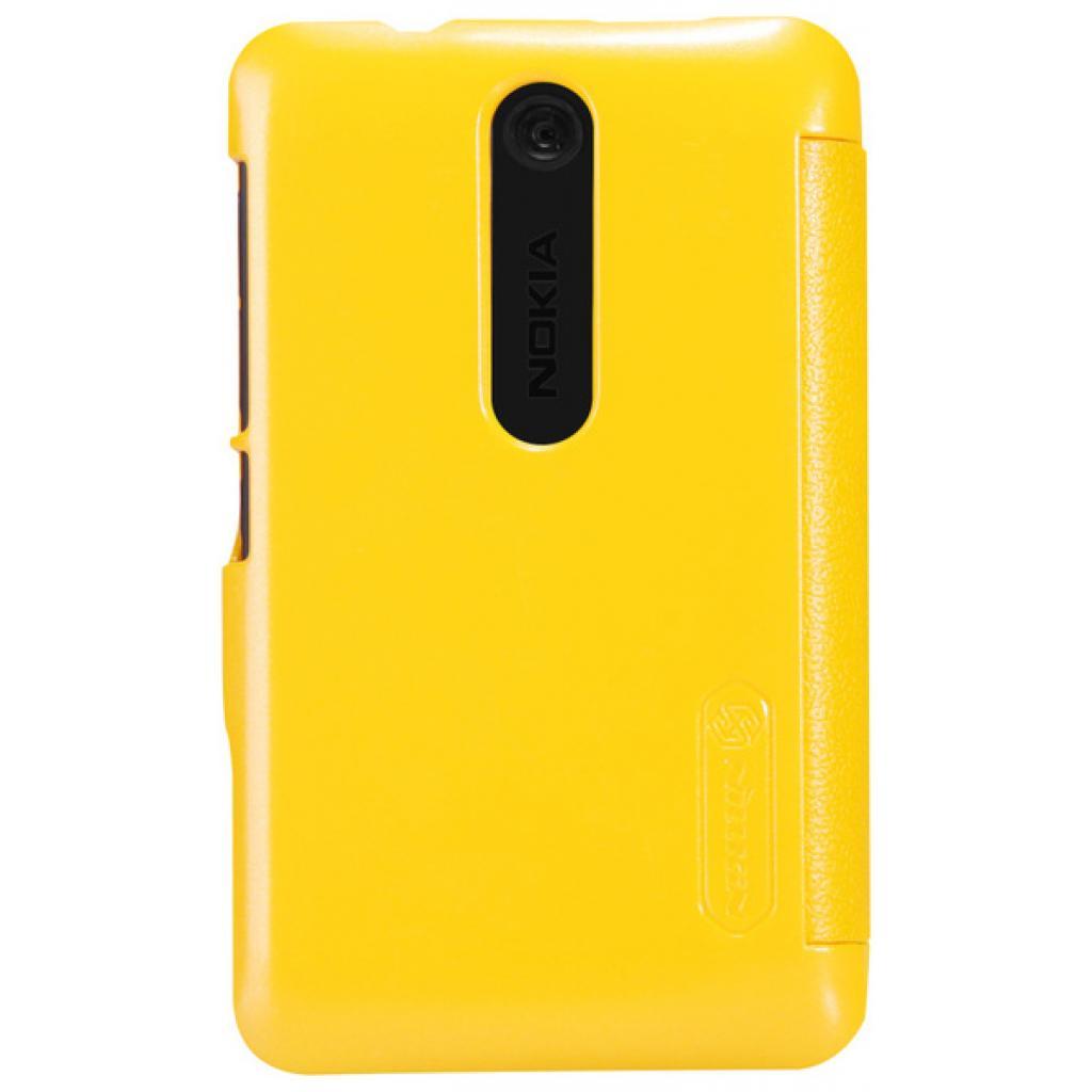 Чехол для моб. телефона NILLKIN для Nokia 501/Fresh/ Leather/Yellow (6076877) изображение 5
