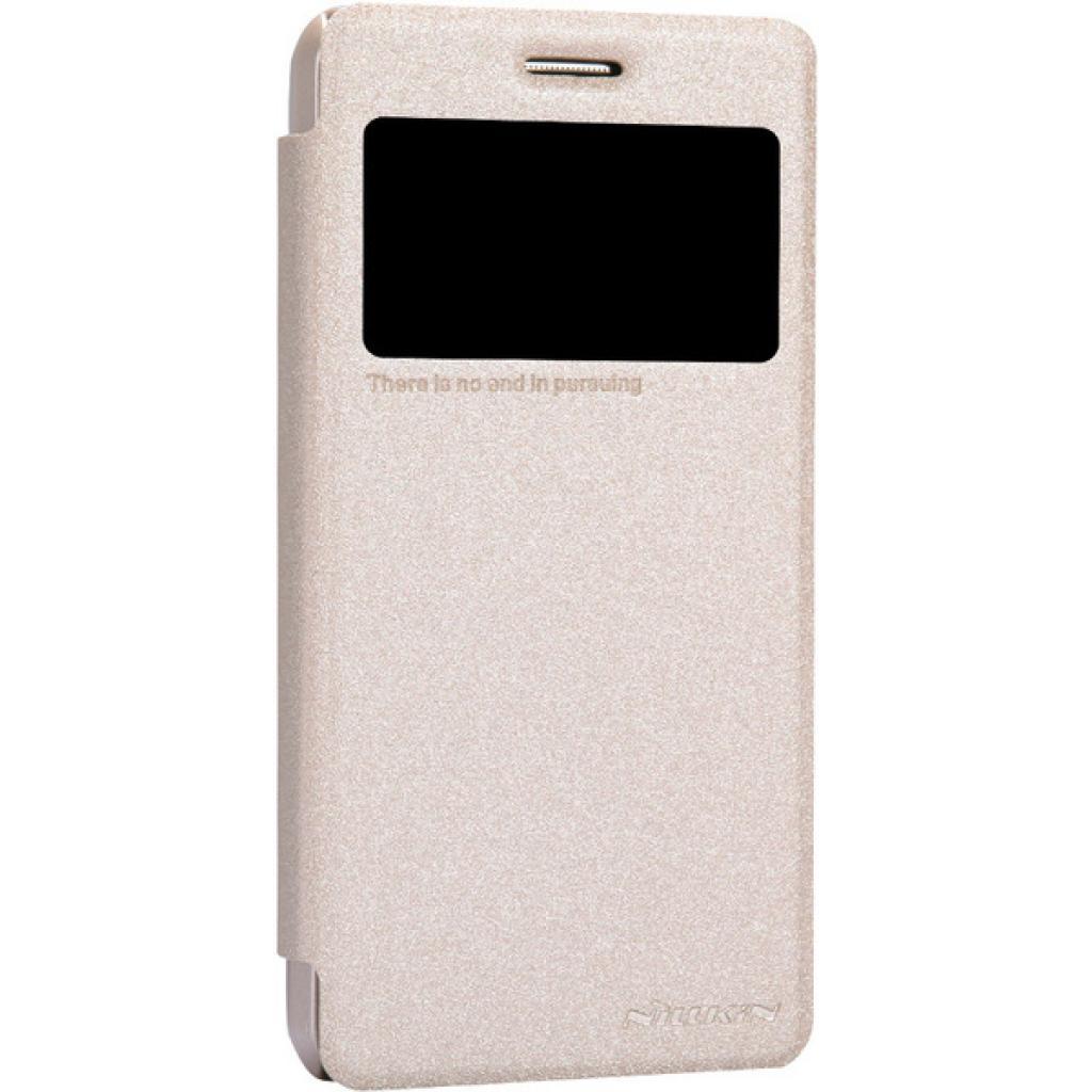 Чехол для моб. телефона NILLKIN для Lenovo S660 /Spark/ Leather/Golden (6164333) изображение 2