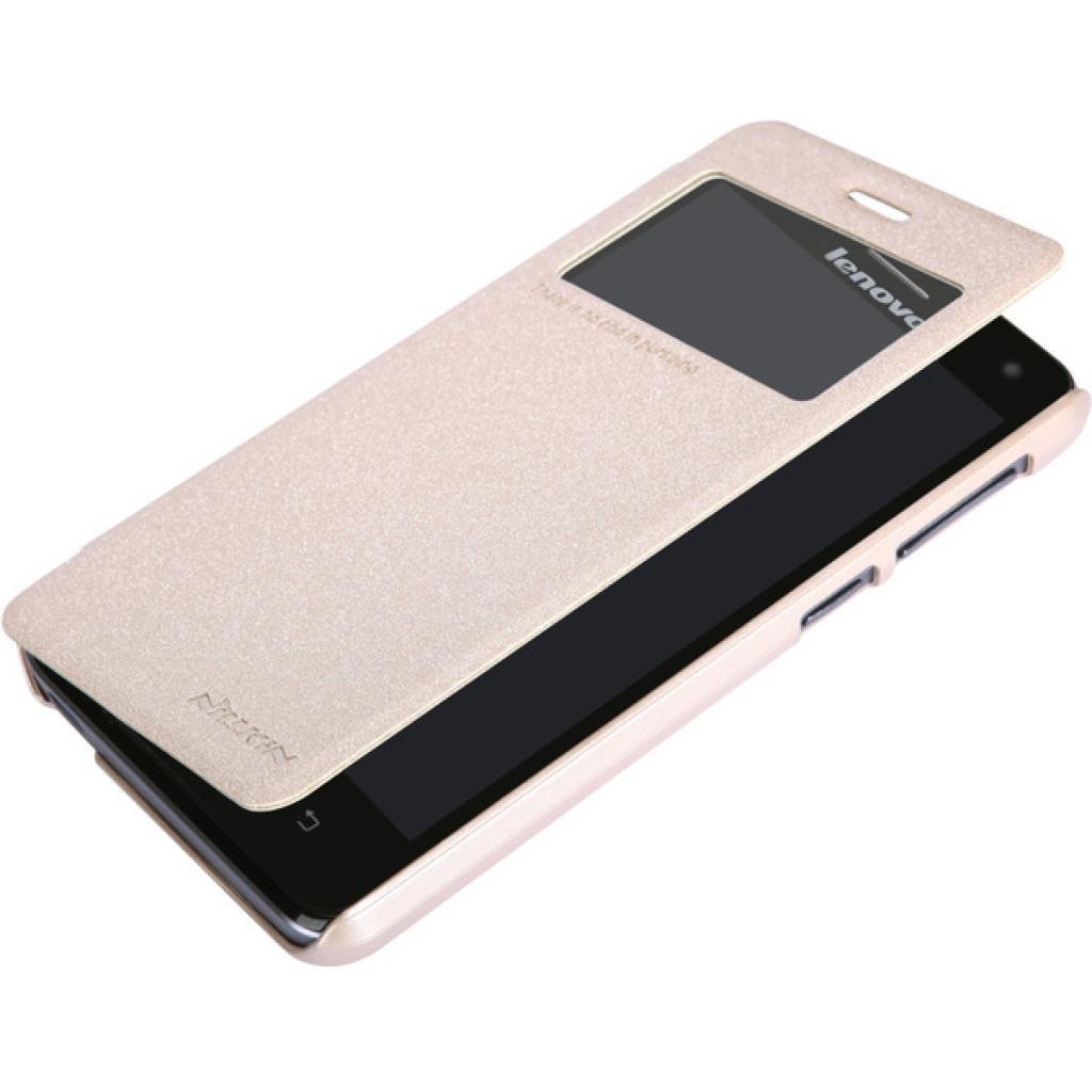 Чехол для моб. телефона NILLKIN для Lenovo S660 /Spark/ Leather/Golden (6164333) изображение 3