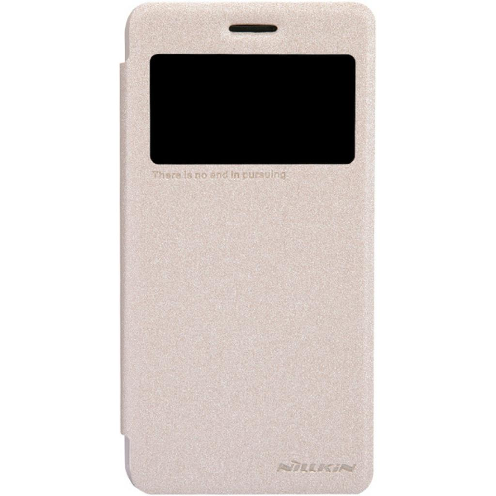 Чехол для моб. телефона NILLKIN для Lenovo S660 /Spark/ Leather/Golden (6164333)