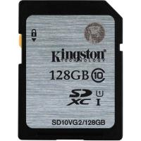 Карта памяти Kingston 128GB SDXC UHS-I Class10 (SD10VG2/128GB)