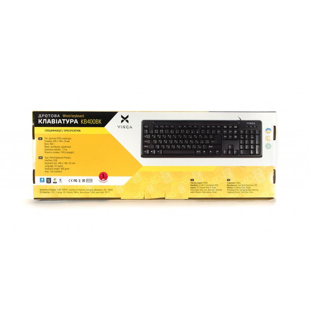 Клавиатура Vinga KB400BK изображение 8