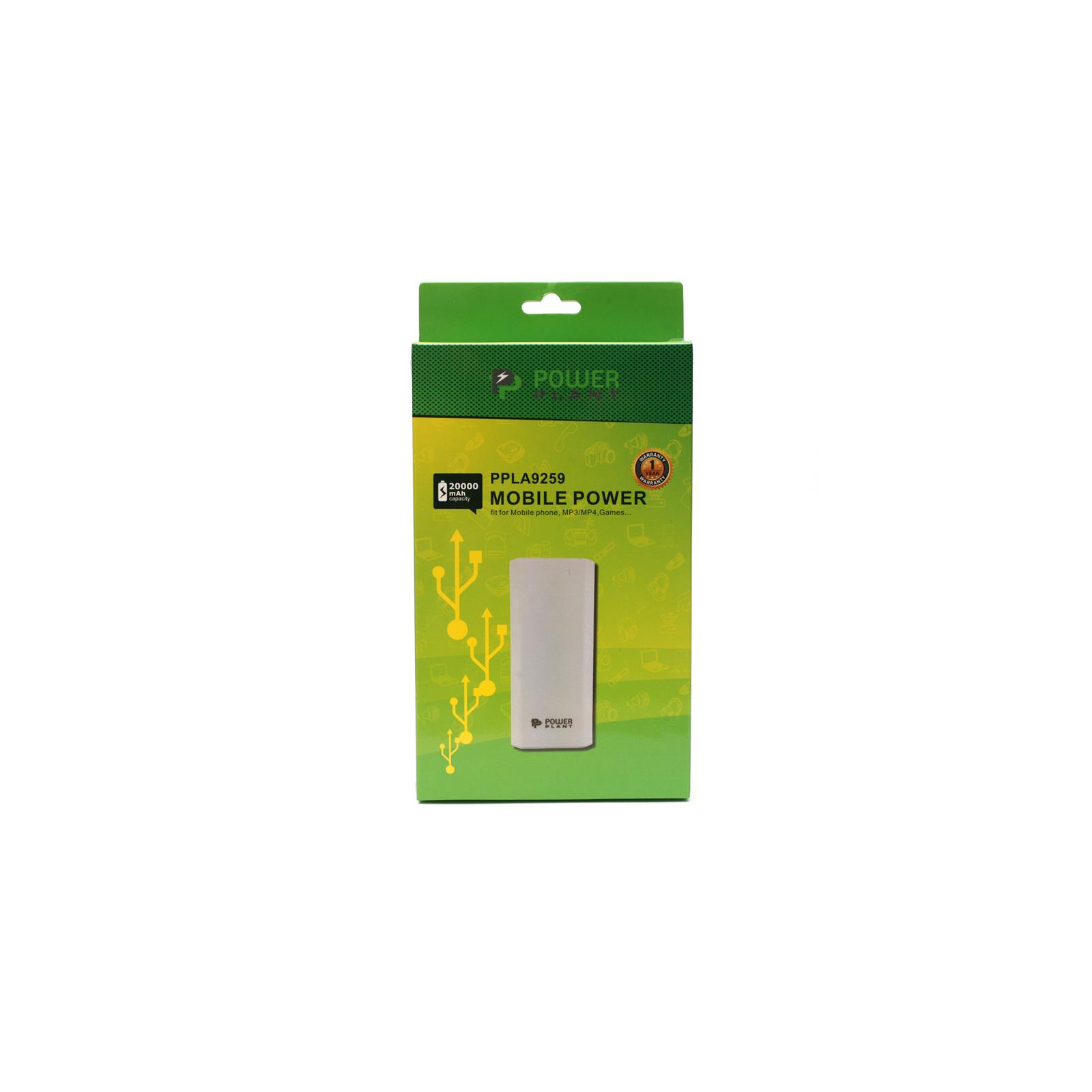 Батарея универсальная PowerPlant PB-LA9259 20000mAh 2*USB/1A 1*USB/2A (PPLA9259) изображение 6