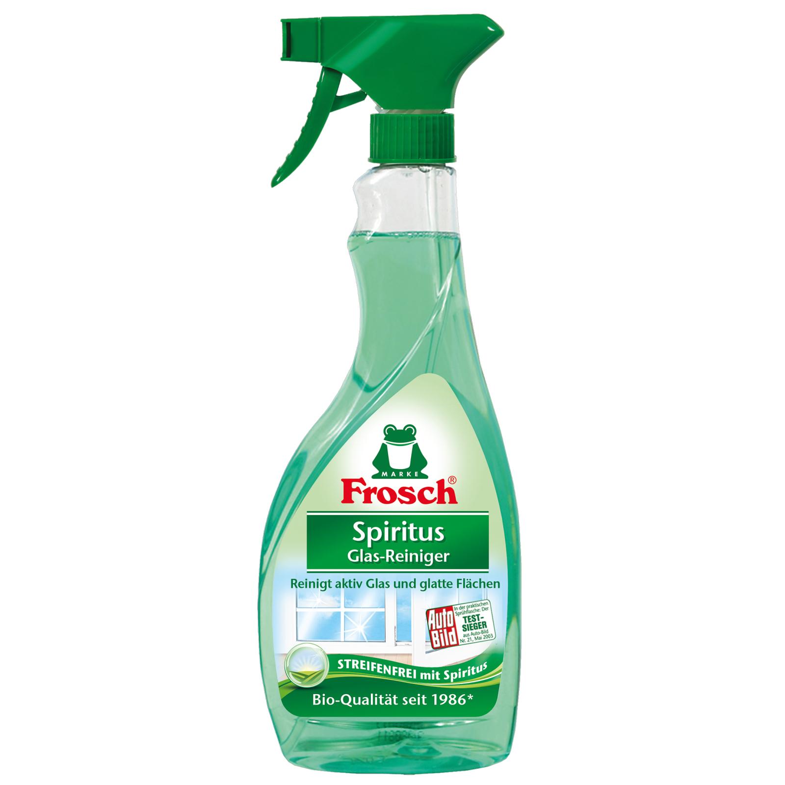Чистящее средство Frosch для стеклянных и зеркальных поверхностей спиртовой 500 мл (4009175161918)