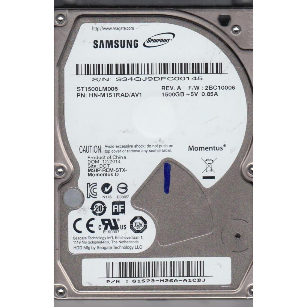 """Жесткий диск для ноутбука 2.5"""" 1.5TB Seagate (ST1500LM006)"""