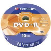 Диск DVD-R Verbatim 4.7Gb 16X Spindle Wrap box 10шт DATA LIFE (43839)