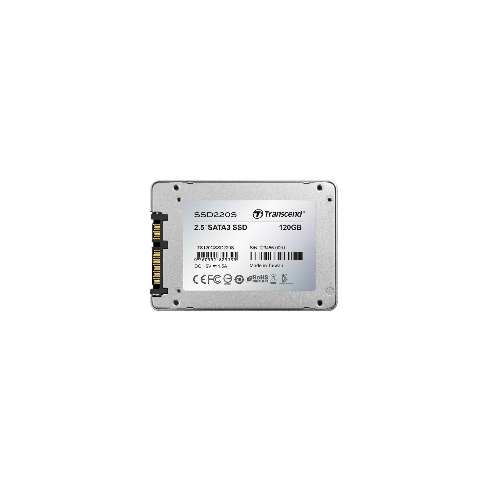 """Накопичувач SSD 2.5"""" 240GB Transcend (TS240GSSD220S) зображення 2"""