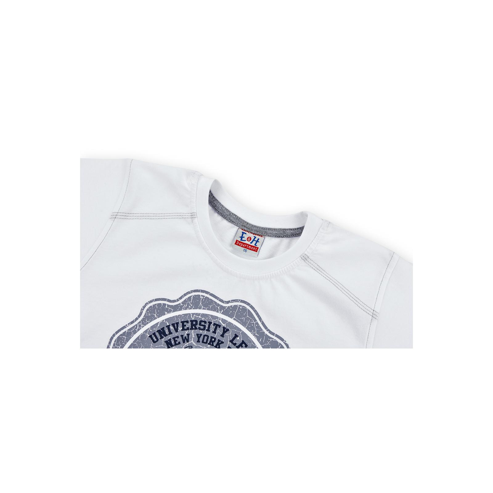 """Футболка детская E&H """"College"""" (4678-140B-white) изображение 2"""