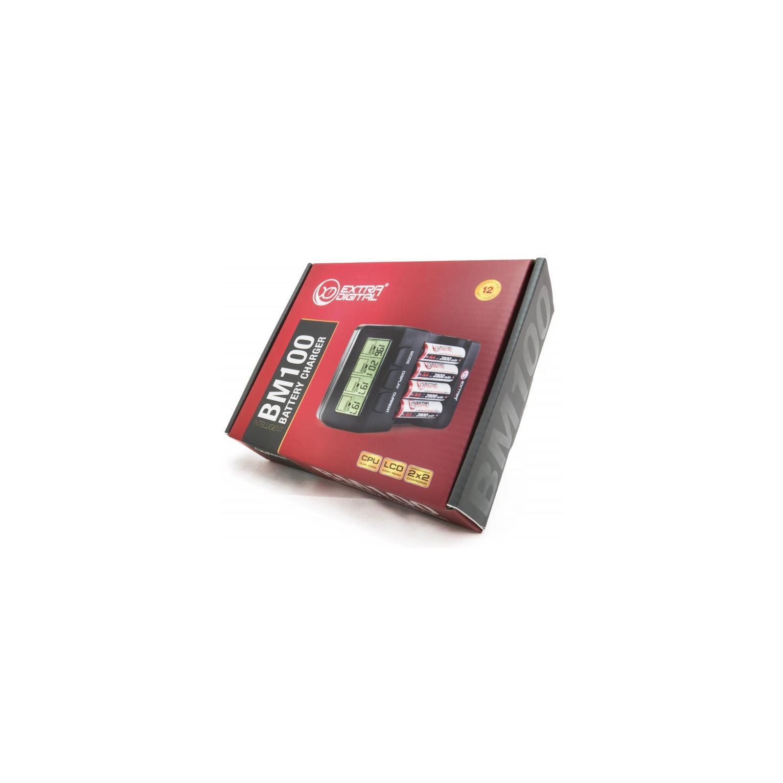Зарядное устройство для аккумуляторов Extradigital BM110 + 4шт AA 2800 mAh (DV00DV2818) изображение 8