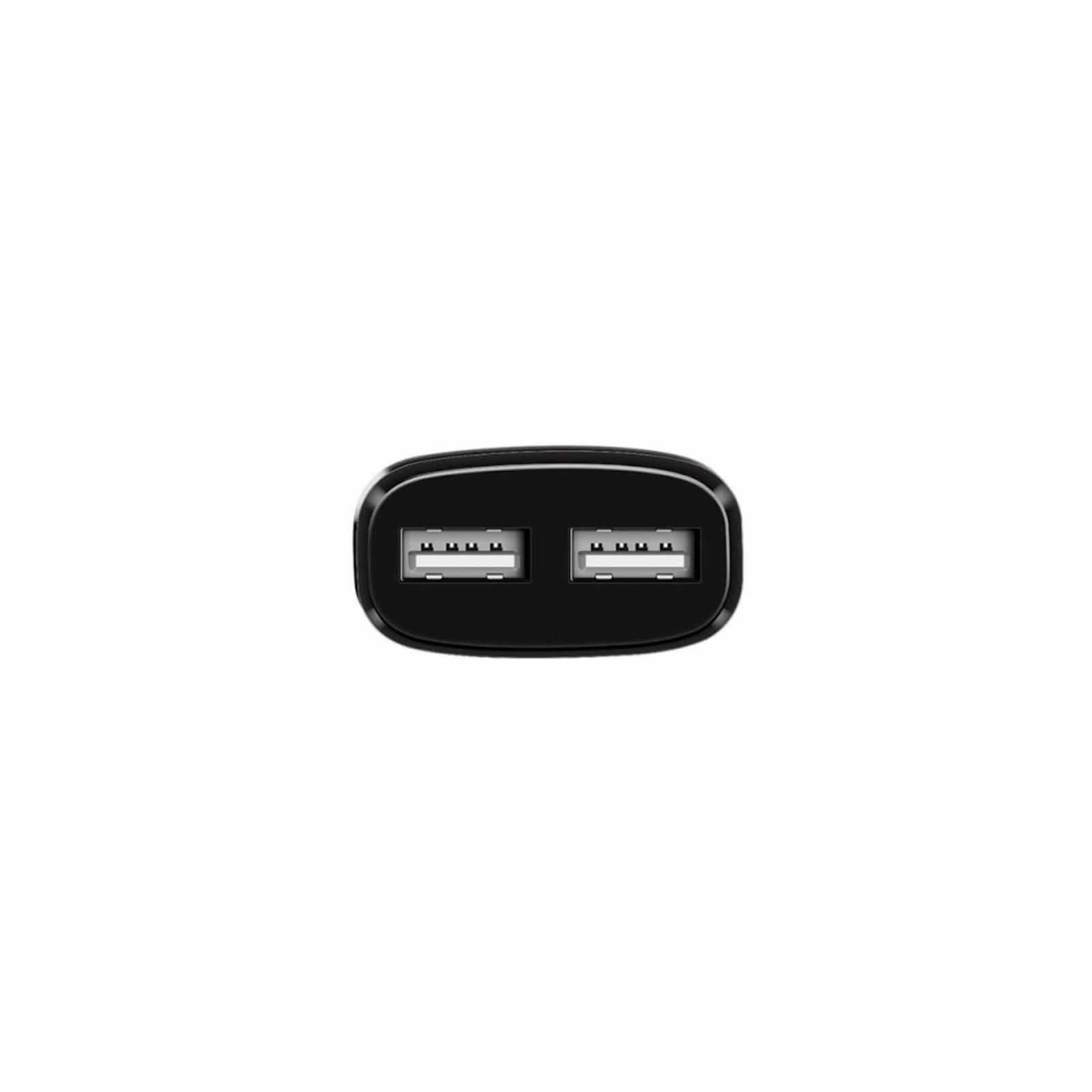 Зарядное устройство HOCO C12 2*USB, 2.4A, Black + USB Cable iPhone 6 (65597) изображение 4