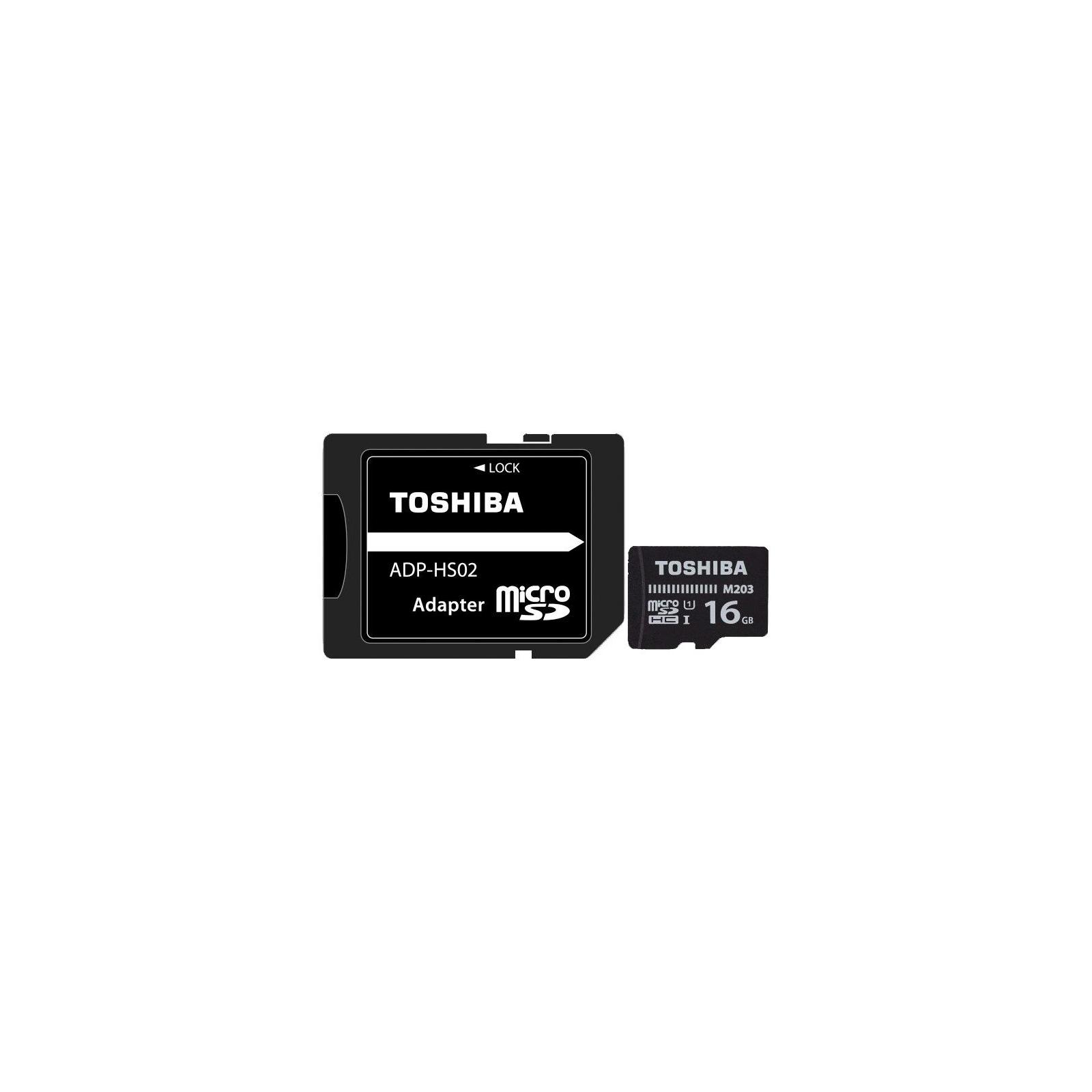 Карта памяти TOSHIBA 16GB microSD class 10 USH-I U1 (THN-M203K0160EA)