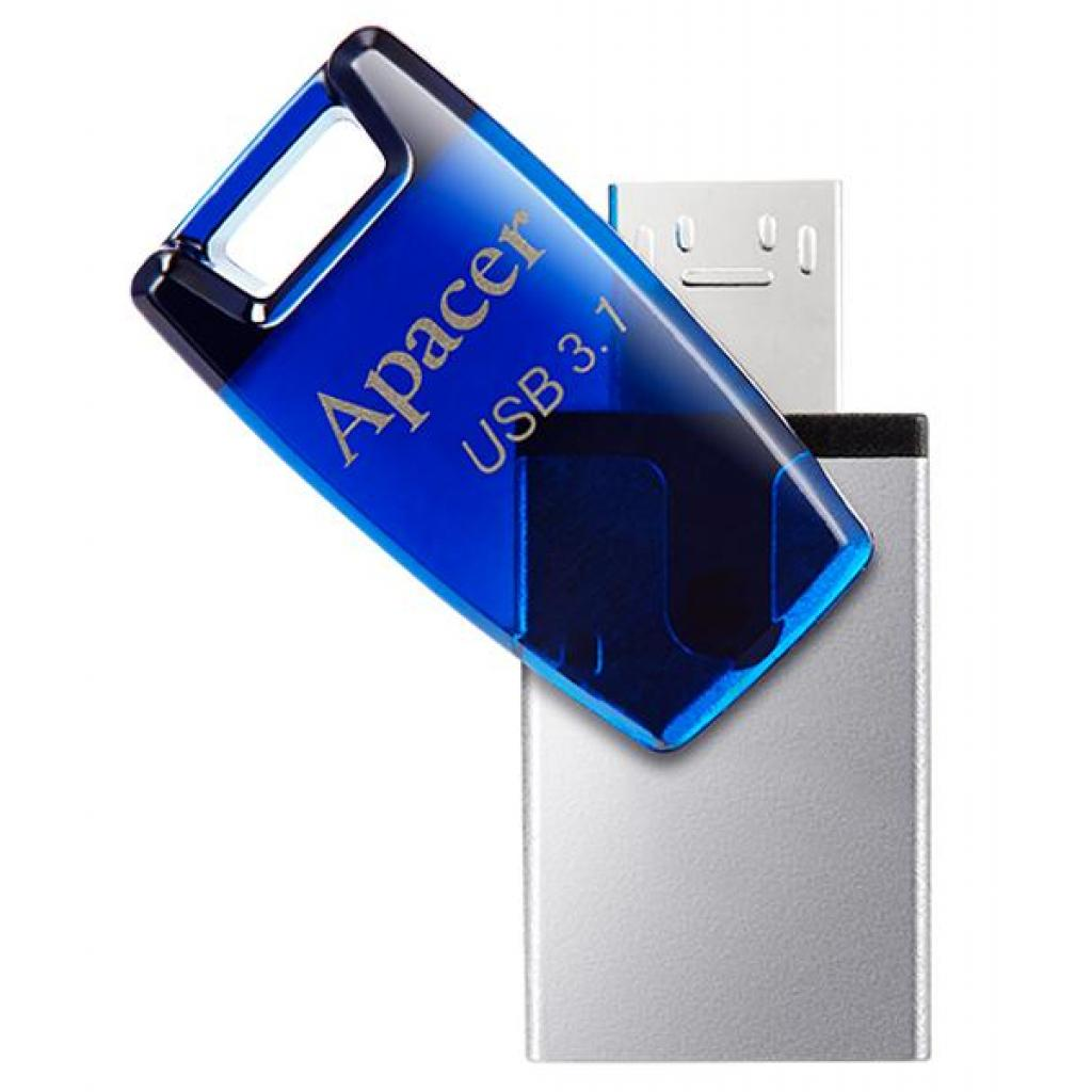 USB флеш накопитель Apacer 8GB AH179 Blue USB 3.1 OTG (AP8GAH179U-1) изображение 2