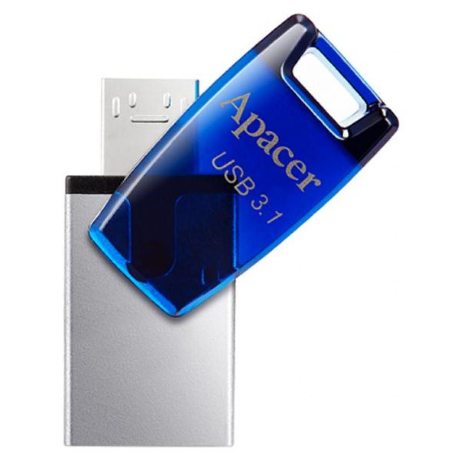 USB флеш накопитель Apacer 8GB AH179 Blue USB 3.1 OTG (AP8GAH179U-1) изображение 3