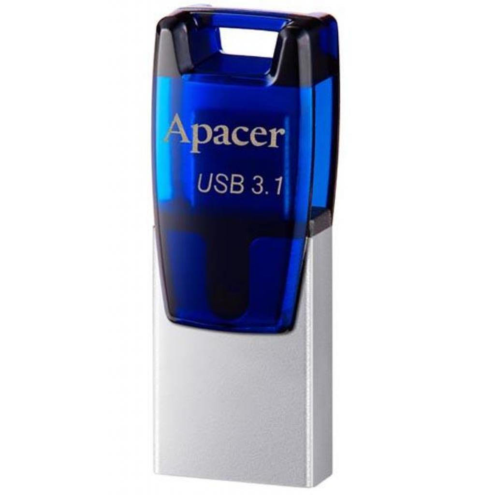 USB флеш накопитель Apacer 8GB AH179 Blue USB 3.1 OTG (AP8GAH179U-1)