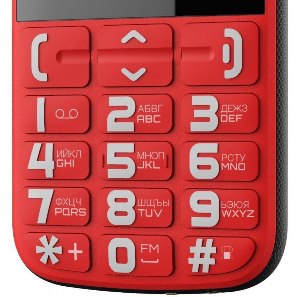 Мобильный телефон NOUS NS 2422 Helper Red Black изображение 3