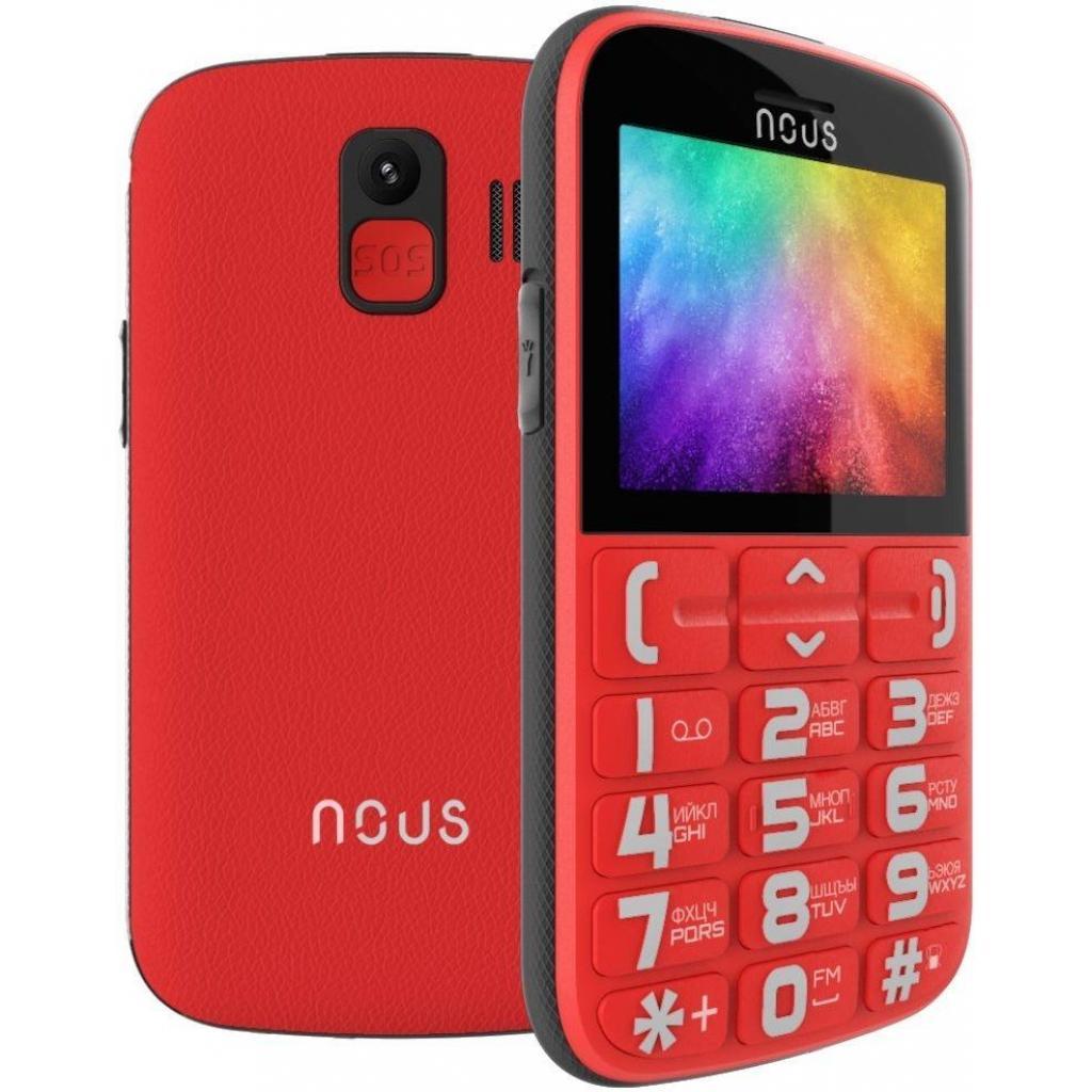 Мобильный телефон NOUS NS 2422 Helper Red Black изображение 5