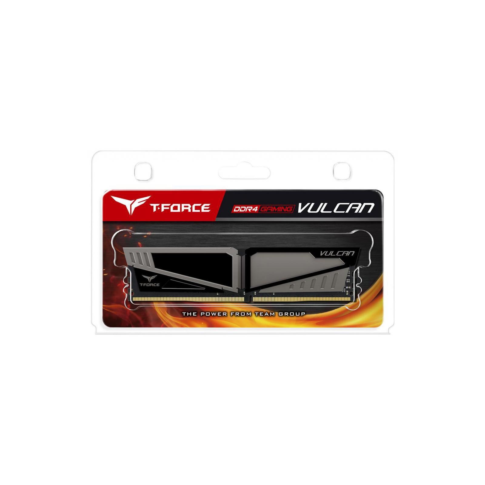 Модуль памяти для компьютера DDR4 8GB 2666 MHz T-Force Vulcan Gray Team (TLGD48G2666HC15B01) изображение 5