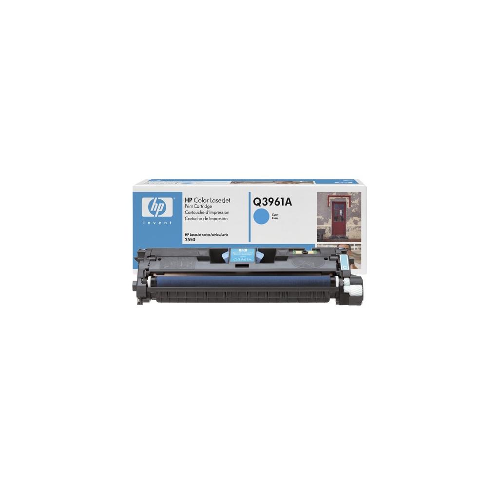 Картридж HP CLJ  122A для 2550 (4K) cyan (Q3961A) изображение 2
