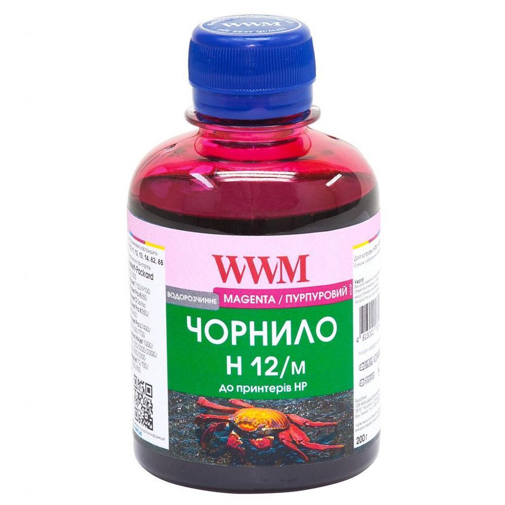 Чернила WWM HP №10/ 11/12/13/14/82 (Magenta) (H12/M)