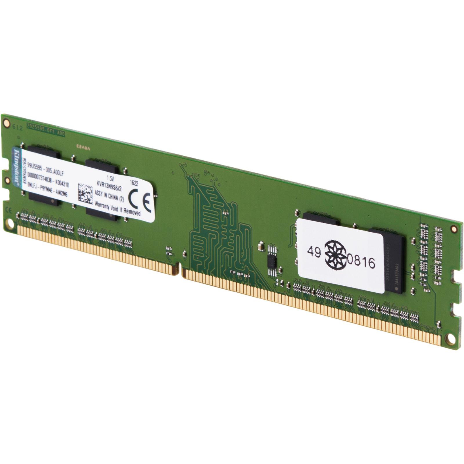Модуль памяти для компьютера DDR3 2GB 1333 MHz Kingston (KVR13N9S6/2) изображение 2