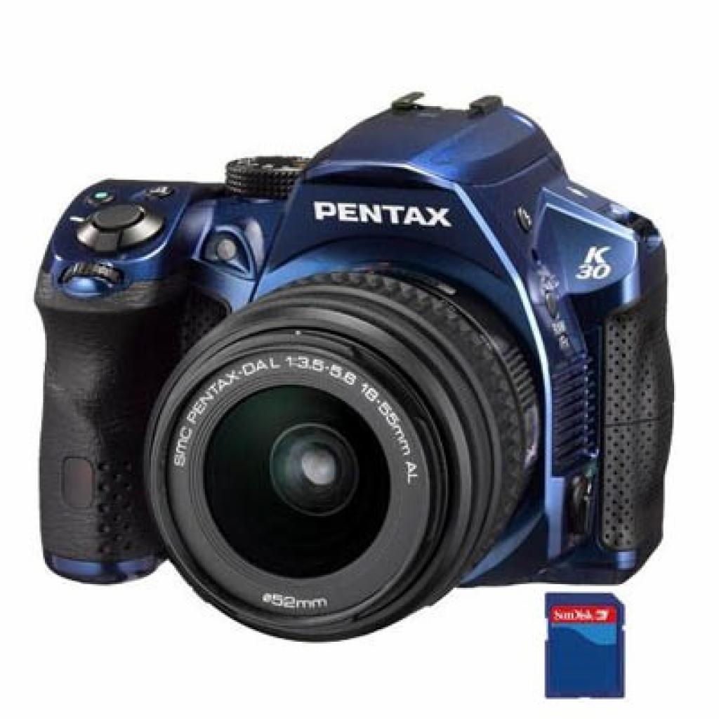 Цифровой фотоаппарат Pentax K-30 + DA L 18-55mm blue (15757)