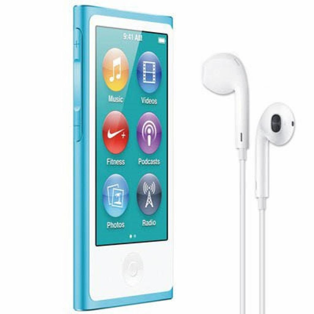 mp3 плеер Apple iPod Nano 7Gen 16GB Blue (MD477QB/A)