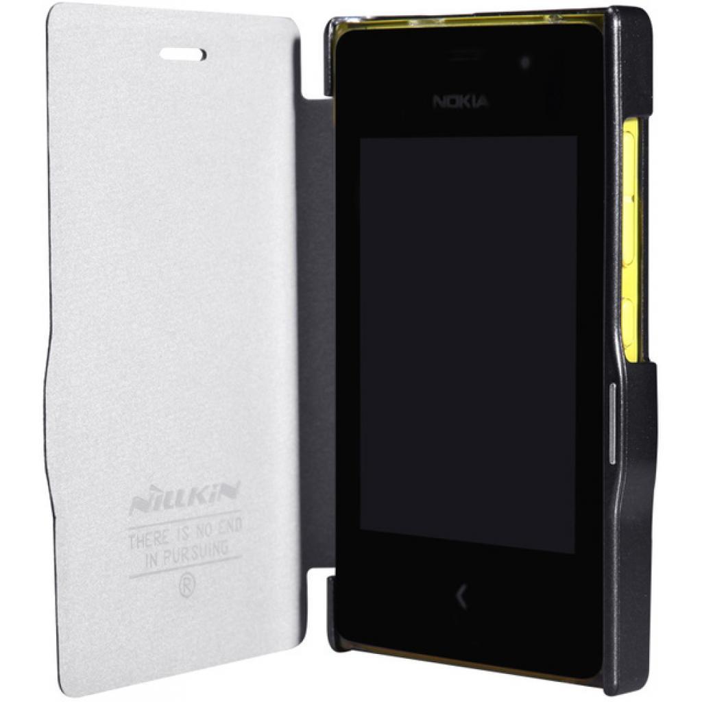Чехол для моб. телефона NILLKIN для Nokia 502 /Fresh/ Leather/Black (6120396) изображение 3