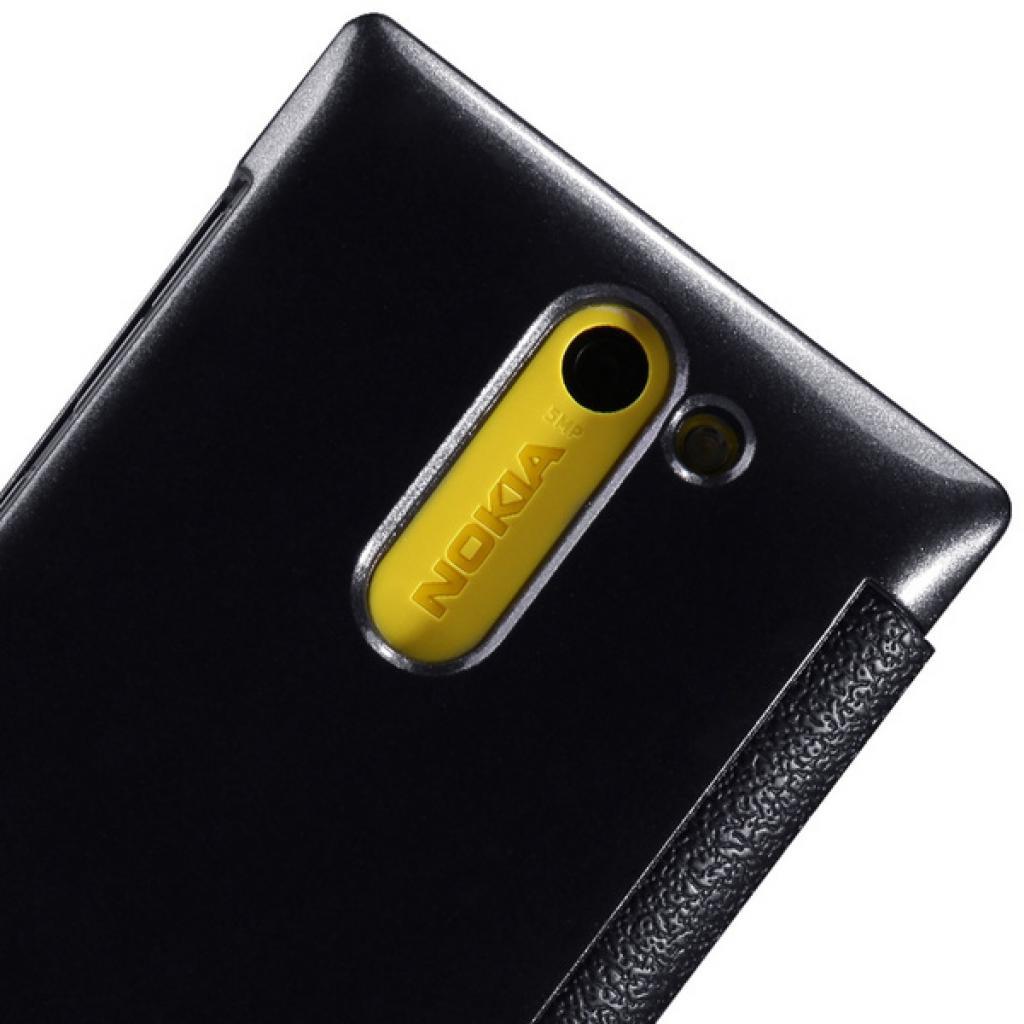 Чехол для моб. телефона NILLKIN для Nokia 502 /Fresh/ Leather/Black (6120396) изображение 5