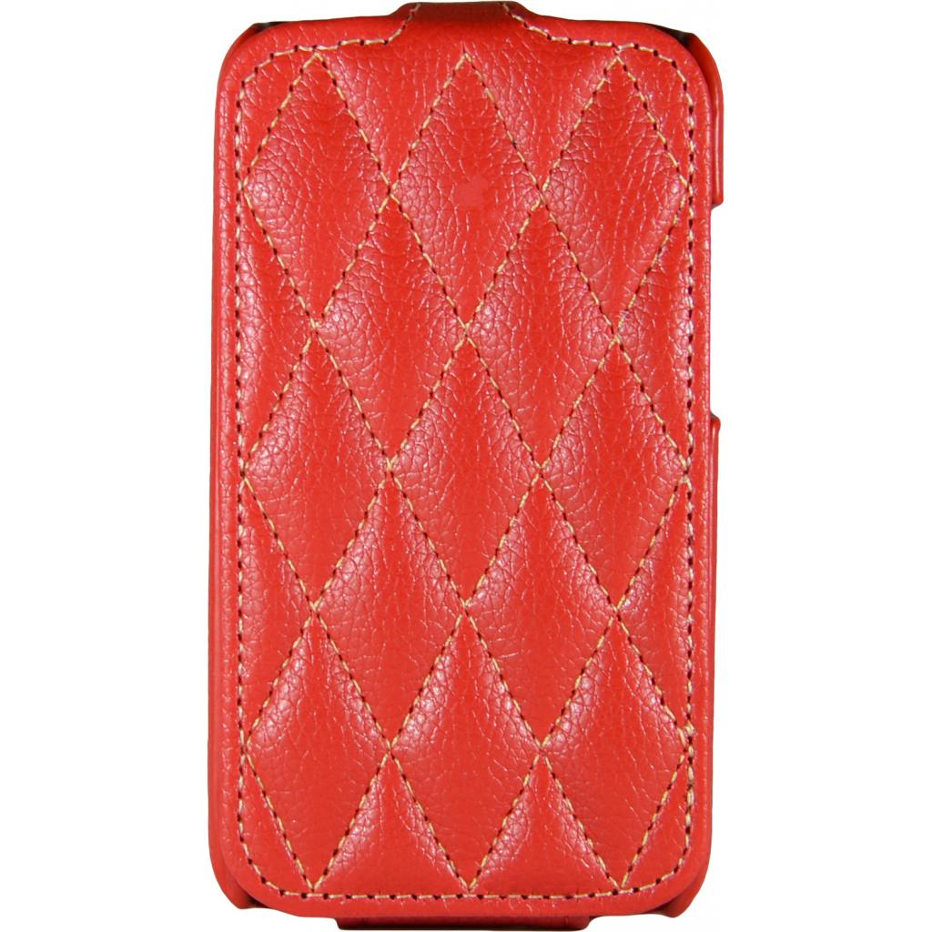 Чехол для моб. телефона Carer Base для Lenovo 316i red grid (Carer Base lenovo316ir gr)