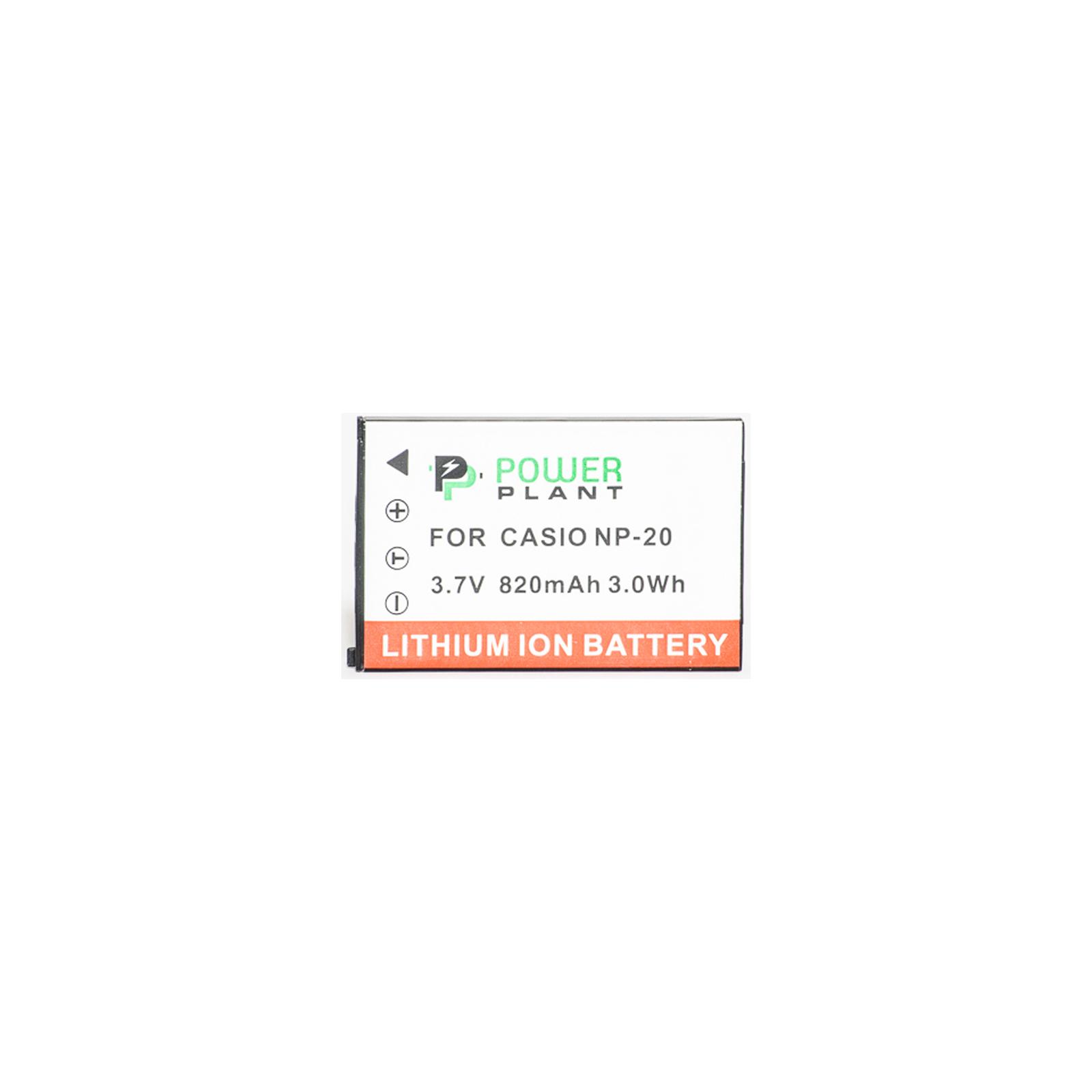 Аккумулятор к фото/видео PowerPlant Casio NP-20 (DV00DV1042) изображение 2