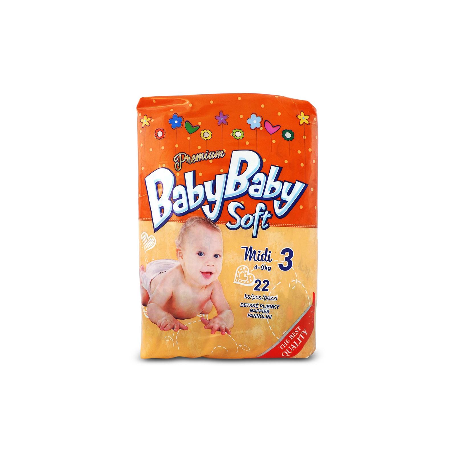Подгузник BabyBaby Soft Premium Midi 3 (4-9 кг) 22 шт (8588004865518)