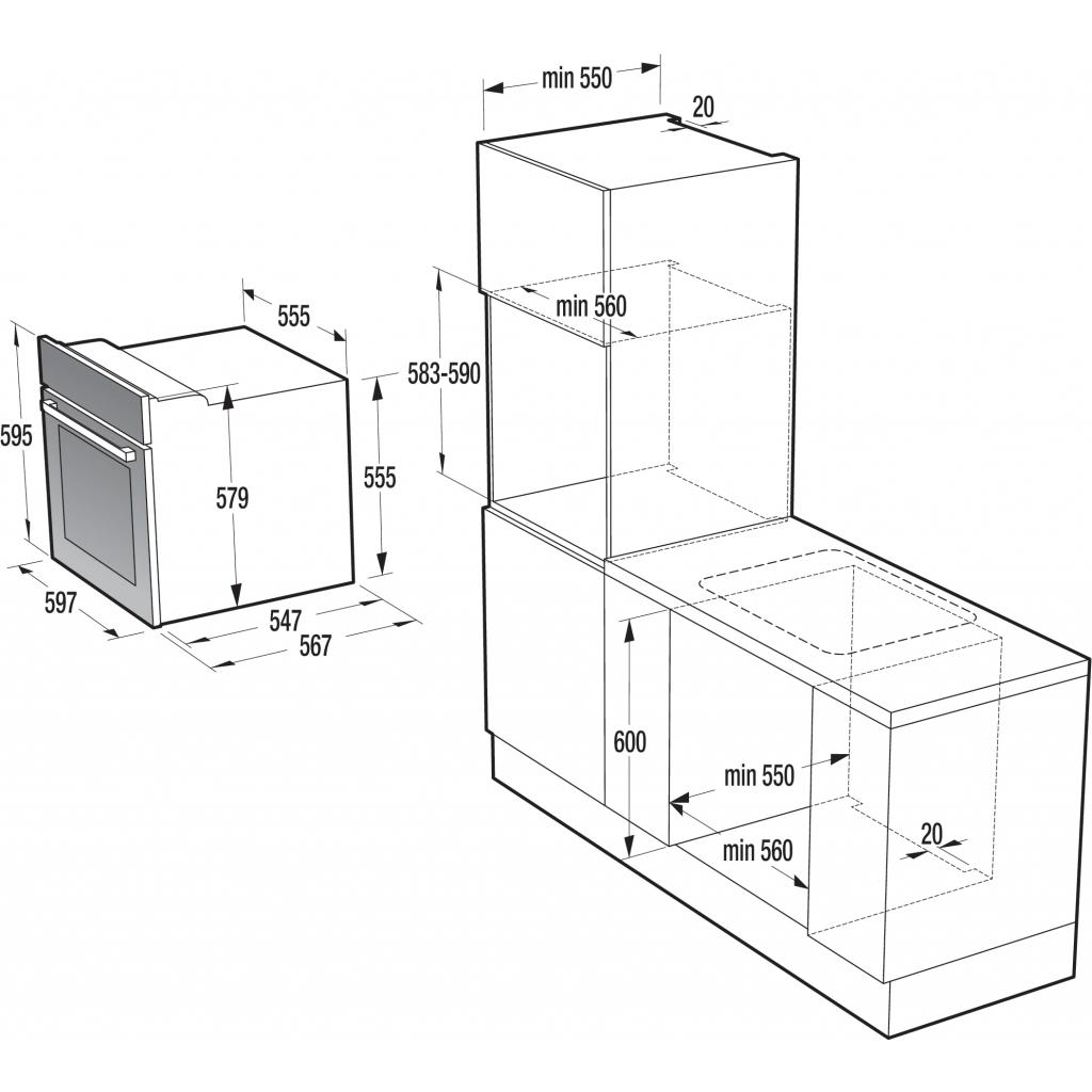 Духовой шкаф Gorenje BO 635 E20W-M изображение 2
