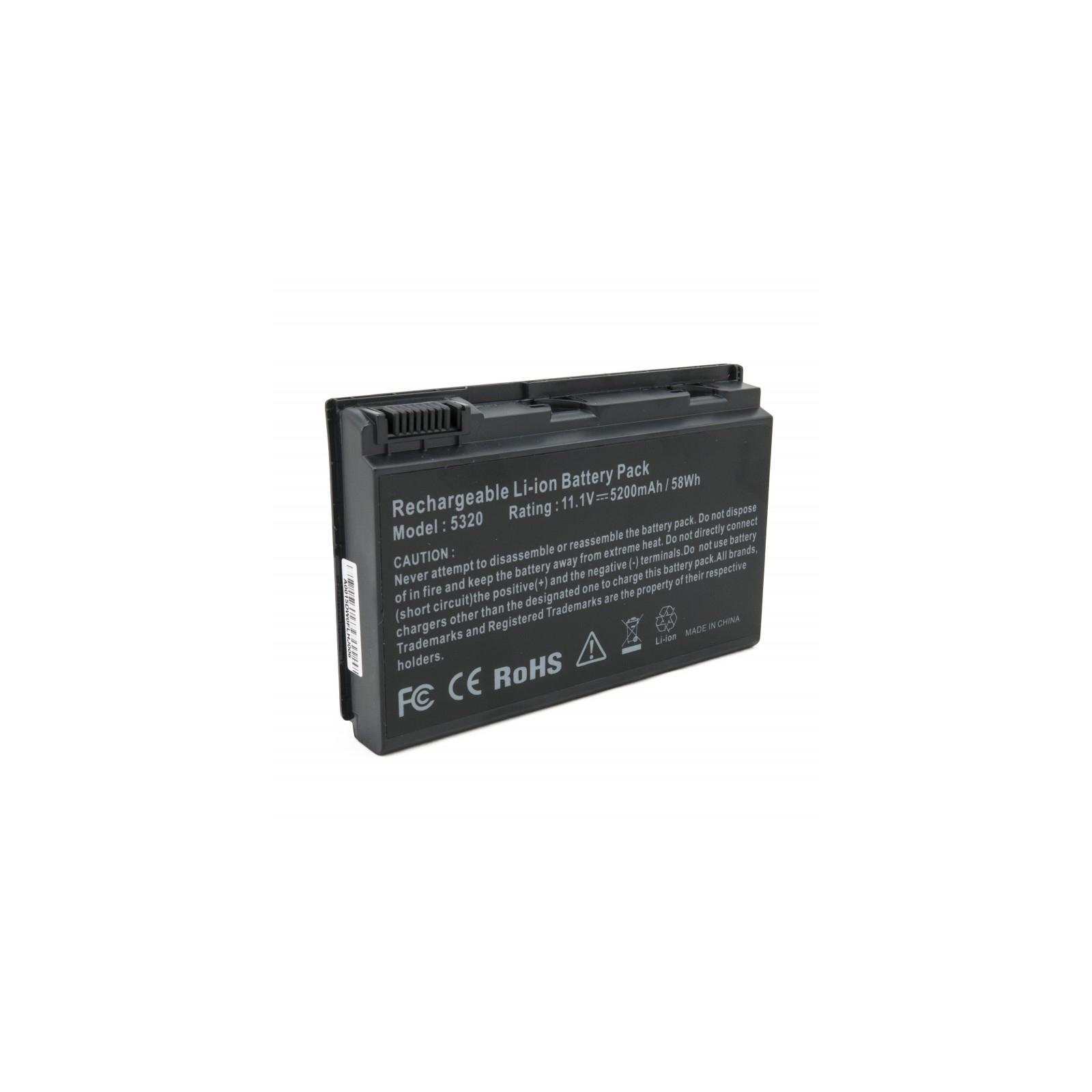 Аккумулятор для ноутбука Acer TravelMate 5320, 5200 mAh EXTRADIGITAL (BNA3909)