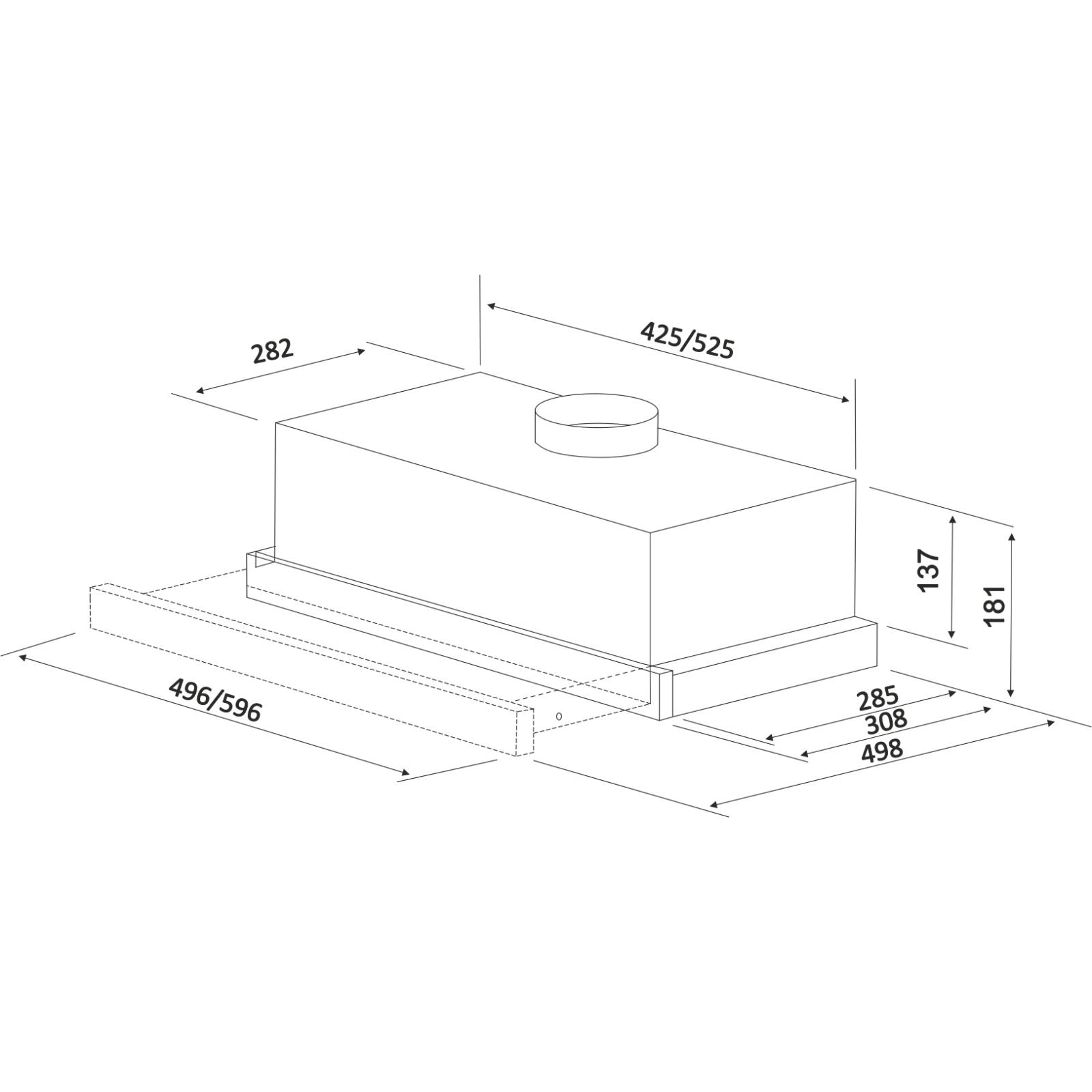 Вытяжка кухонная INTERLINE SLIM WH A/60/2/ E изображение 2
