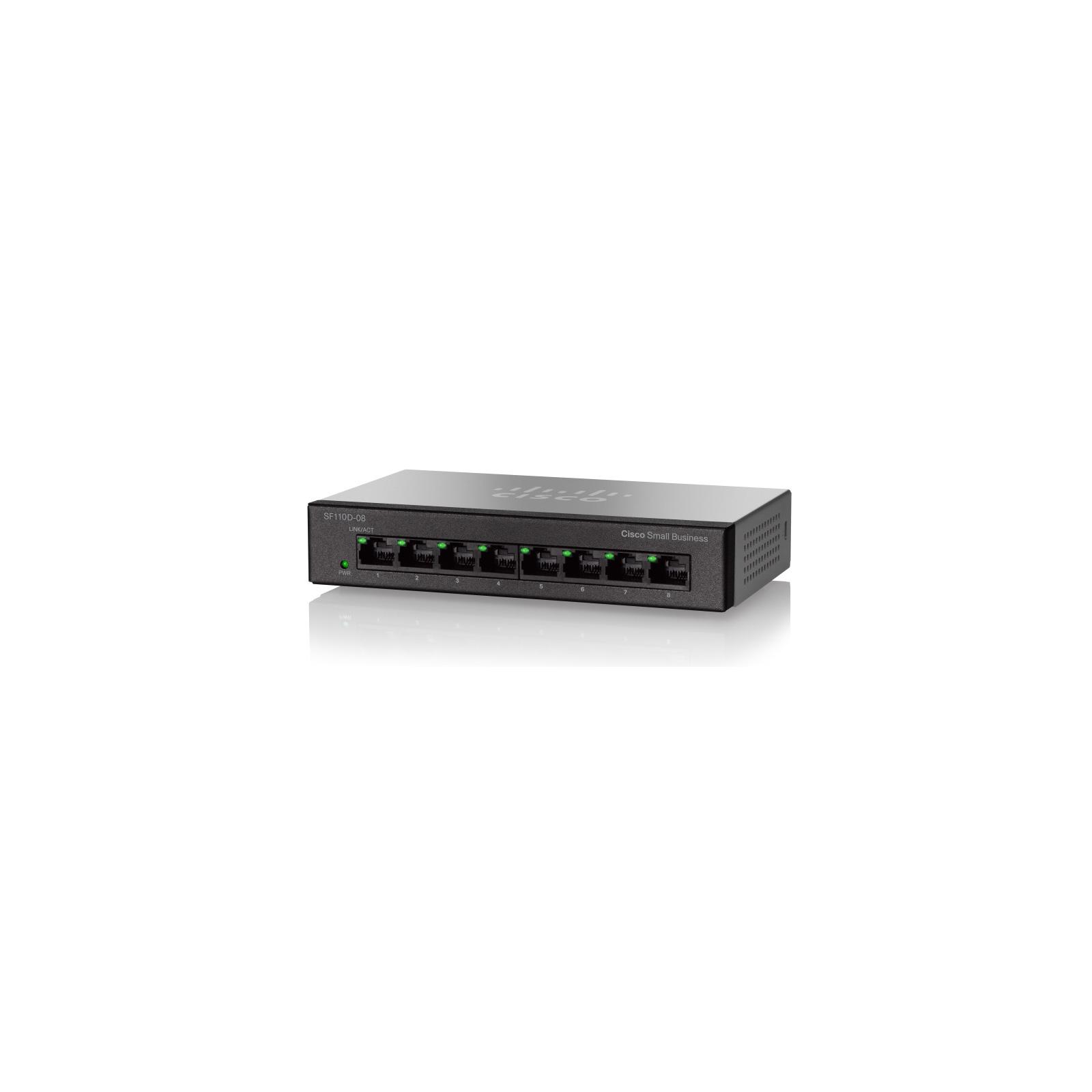 Коммутатор сетевой Cisco SF110D-08HP-EU изображение 3
