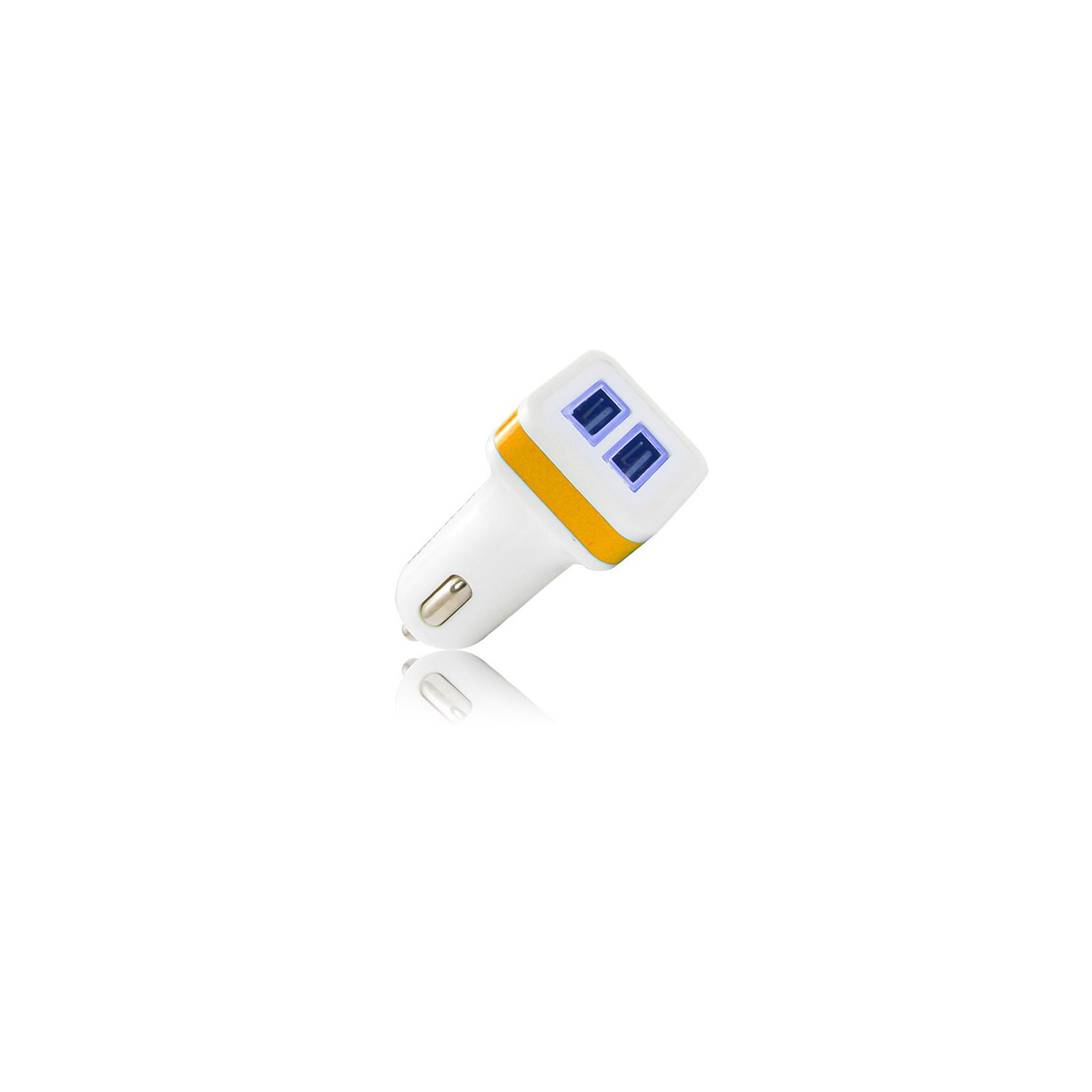 Зарядное устройство Gelius Gold Edition USB*2 2.4A White/Orange (36832)