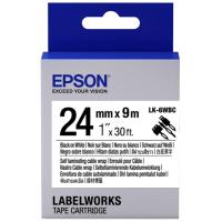Лента для принтера этикеток EPSON LK6WBC (C53S656901)