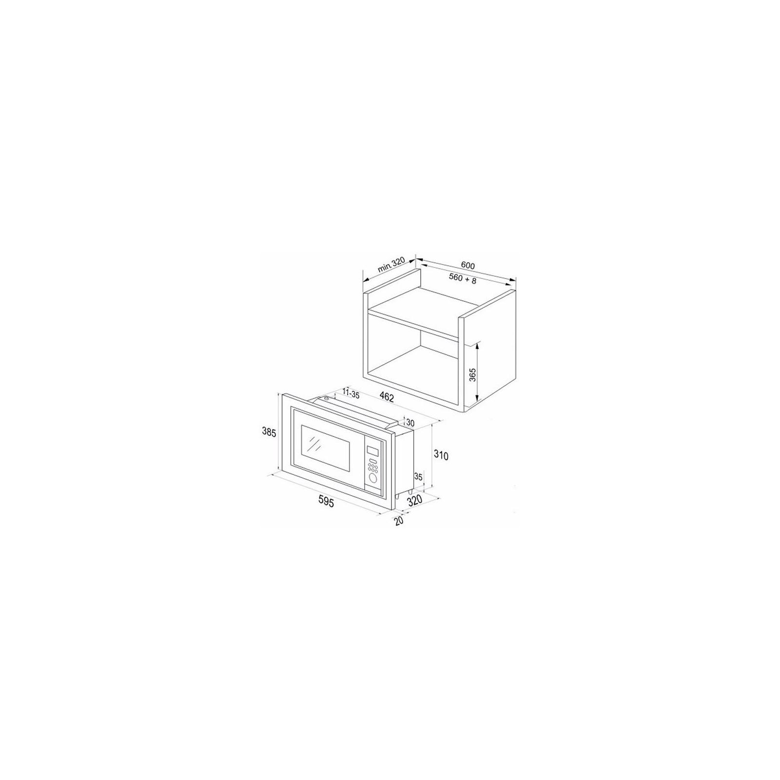 Микроволновая печь Hansa AMM20BEIH изображение 4