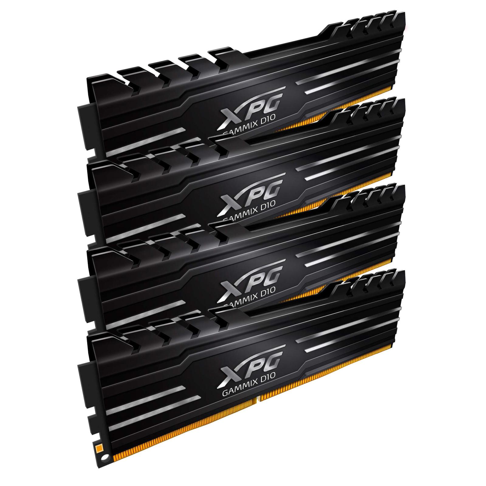 Модуль памяти для компьютера DDR4 16GB (4x4GB) 2400 MHz XPG Gammix D10 Black ADATA (AX4U2400W4G16-QBG) изображение 2
