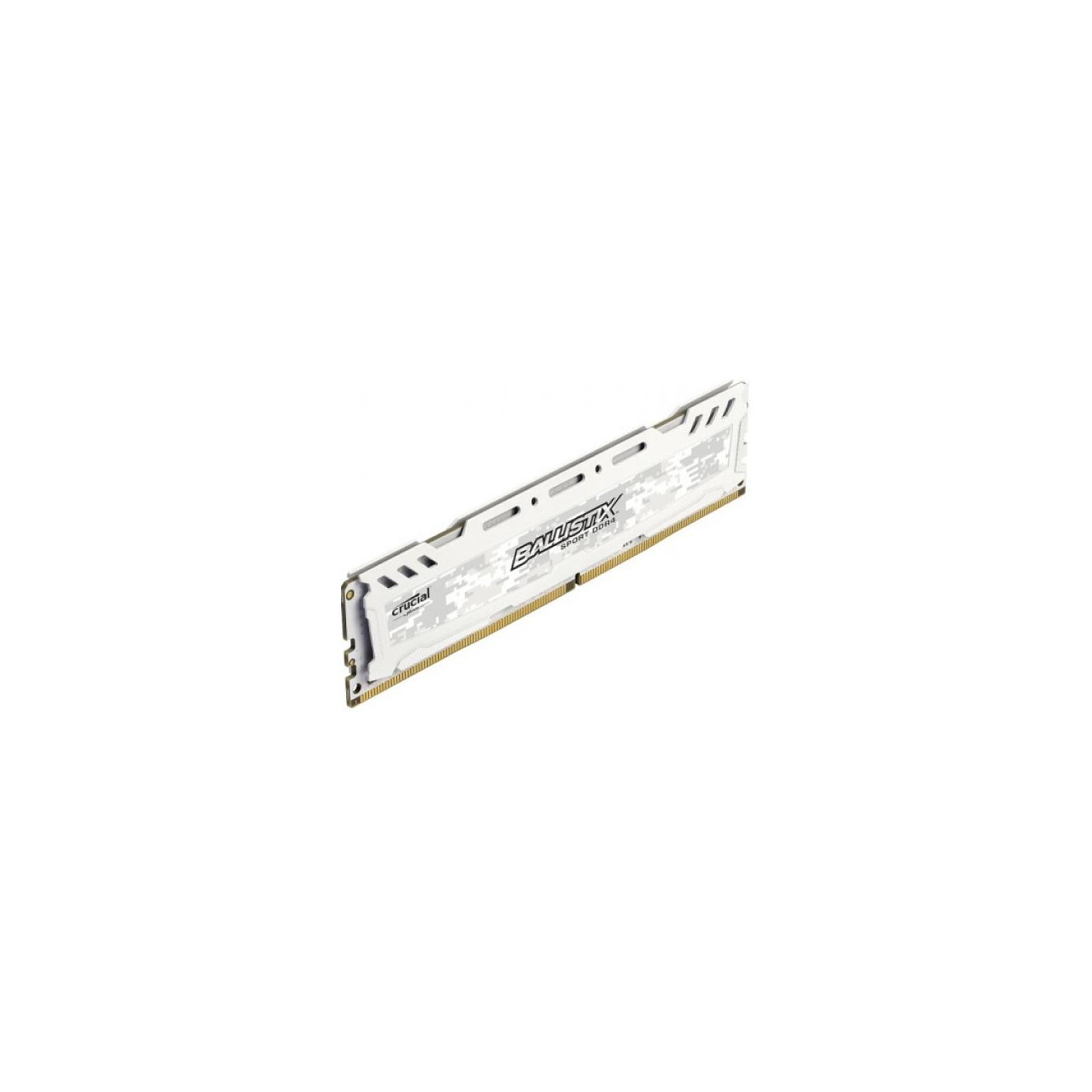 Модуль памяти для компьютера DDR4 4GB 2666 MHz Ballistix Sport LT White MICRON (BLS4G4D26BFSC) изображение 2