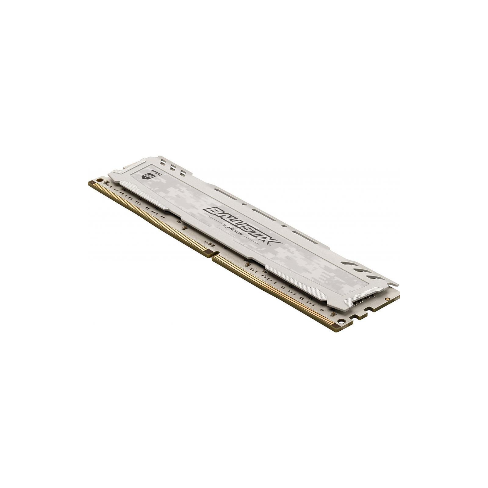 Модуль памяти для компьютера DDR4 4GB 2666 MHz Ballistix Sport LT White MICRON (BLS4G4D26BFSC) изображение 4