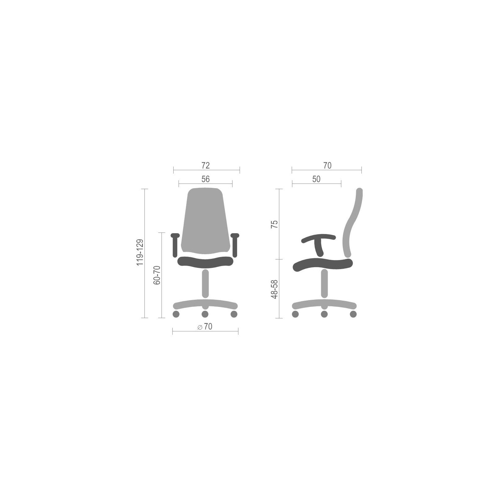 Кресло игровое АКЛАС Стрик PL RL Синее (06151) изображение 6