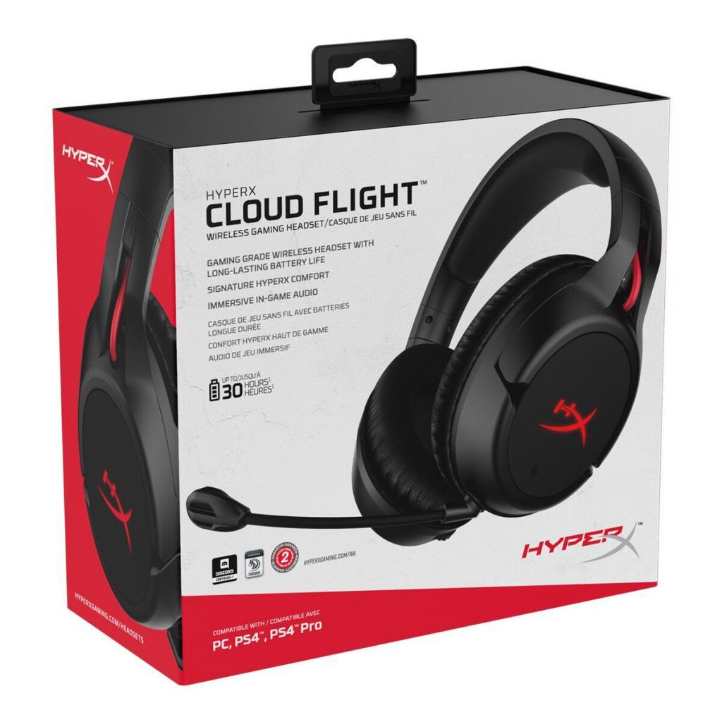 Навушники HyperX Cloud Flight Wireless Gaming Headset for PC/PS4 Black (HX-HSCF-BK/EM) зображення 11