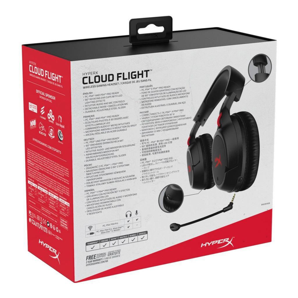 Навушники HyperX Cloud Flight Wireless Gaming Headset for PC/PS4 Black (HX-HSCF-BK/EM) зображення 12