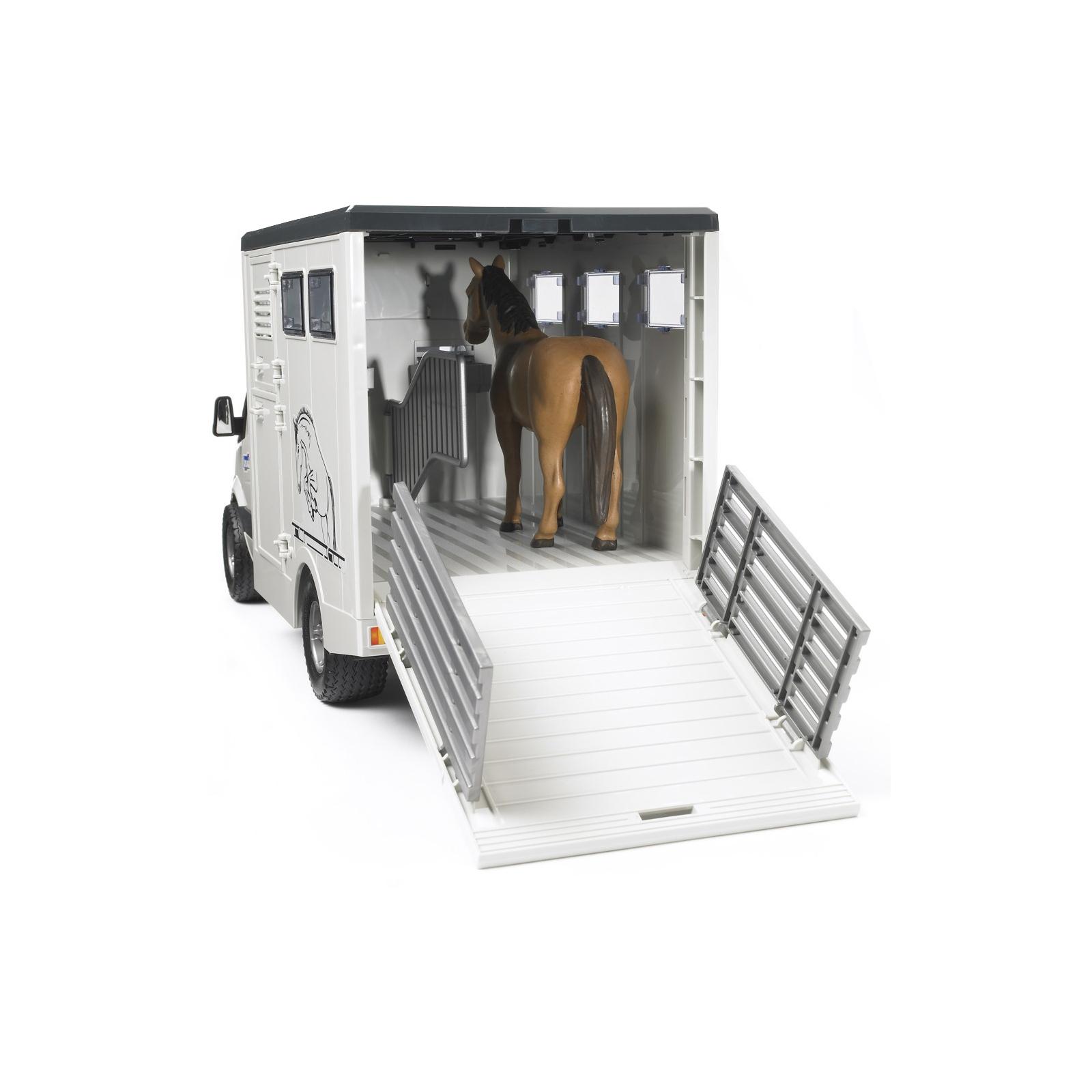 Спецтехника Bruder МВ Sprinter транспортер для животных + лошадка М1:16 (02533) изображение 2