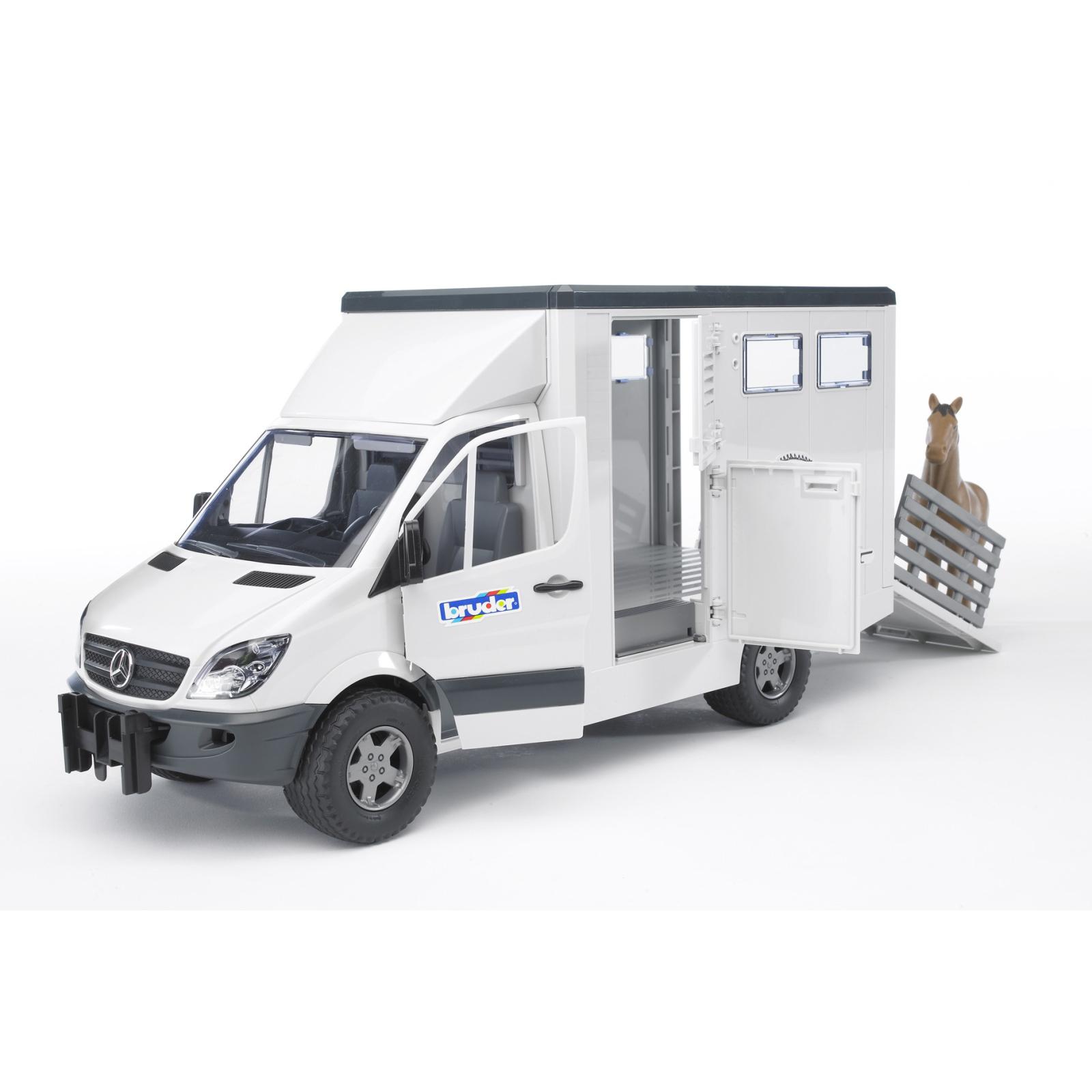 Спецтехника Bruder МВ Sprinter транспортер для животных + лошадка М1:16 (02533) изображение 3