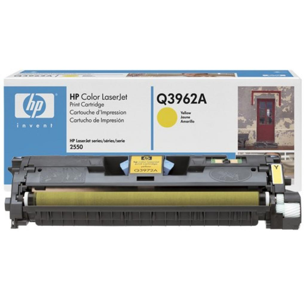 Картридж HP CLJ  122А для 2550 (4K) yellow (Q3962A) изображение 2